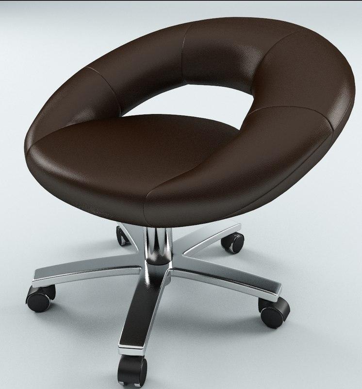 free galaxy stool chair 3d model