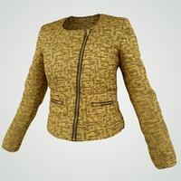 3d gold jacket
