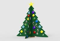 3d cardboard christmas tree