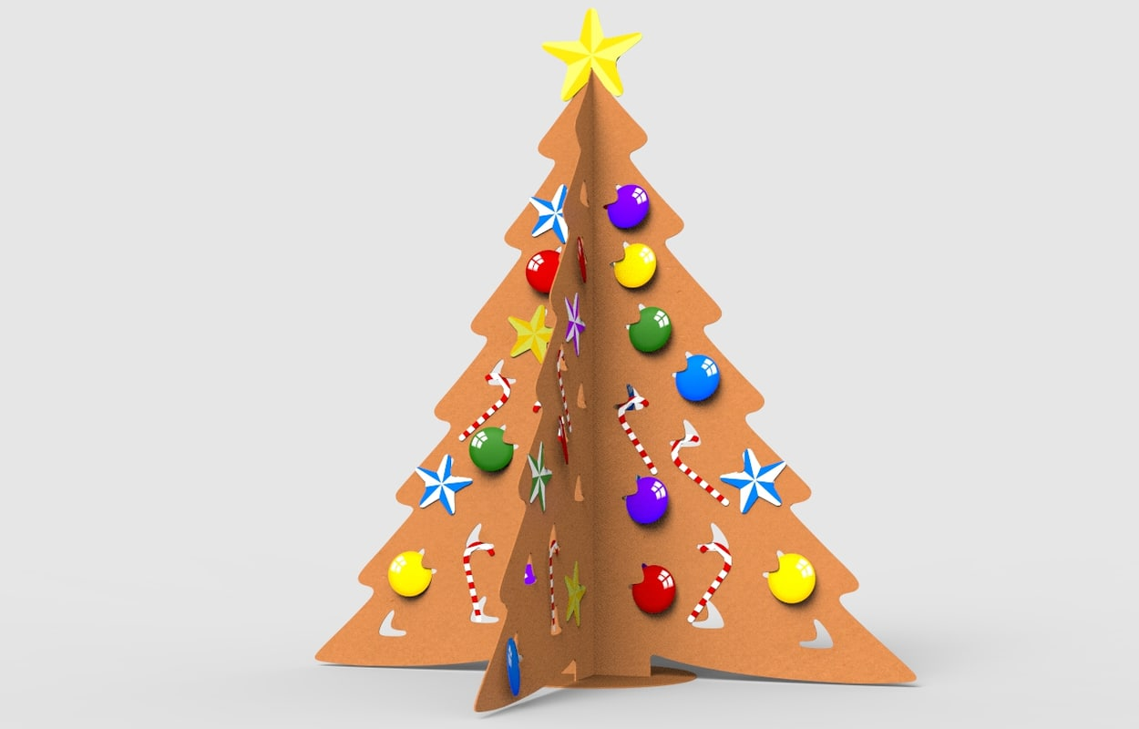 max cardboard christmas tree