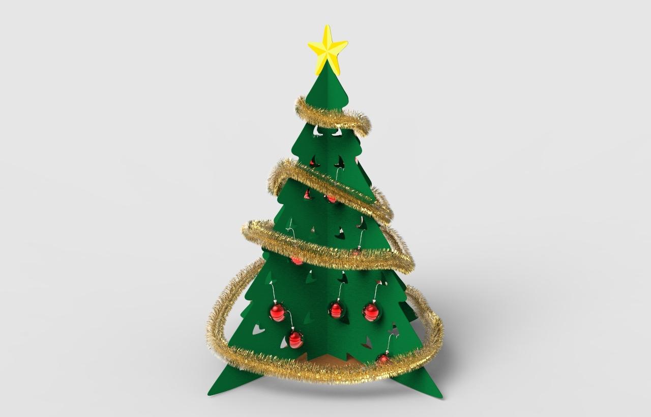 Cardboard Christmas Tree.Cardboard Christmas Tree 1