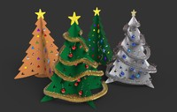 Cardboard Christmas Tree Set