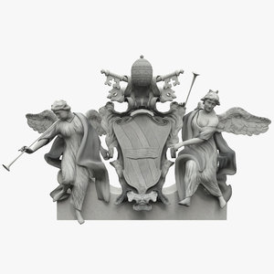 trevi fountain roof sculpture 3ds