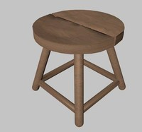 dxf wooden stool
