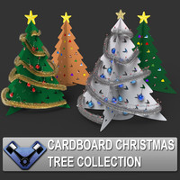 Cardboard Christmas Tree Set