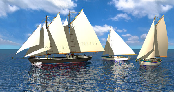 3d c4d sailboats boat
