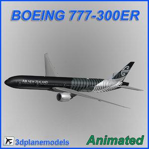 boeing 777-300er aircraft landing 3ds