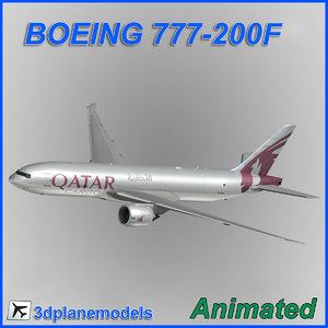 3d boeing 777-200f cargo