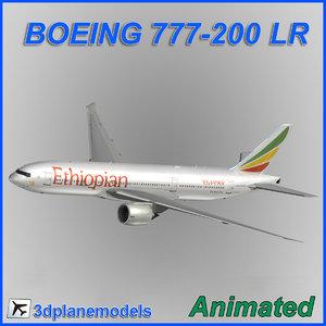 boeing 777-200lr 3d obj