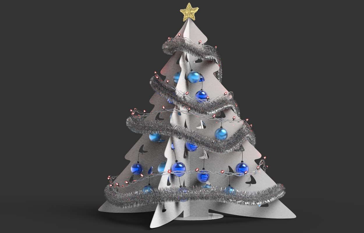 Cardboard Christmas Tree 3d Max