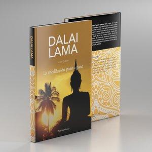 dalai lama book 2 3d model