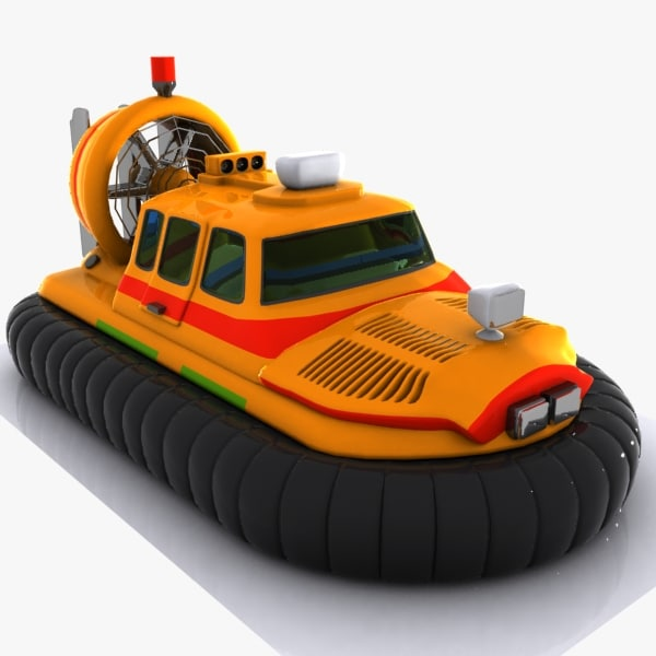 3d model of cartoon hovercraft craft
