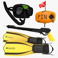 swim pack 3d model