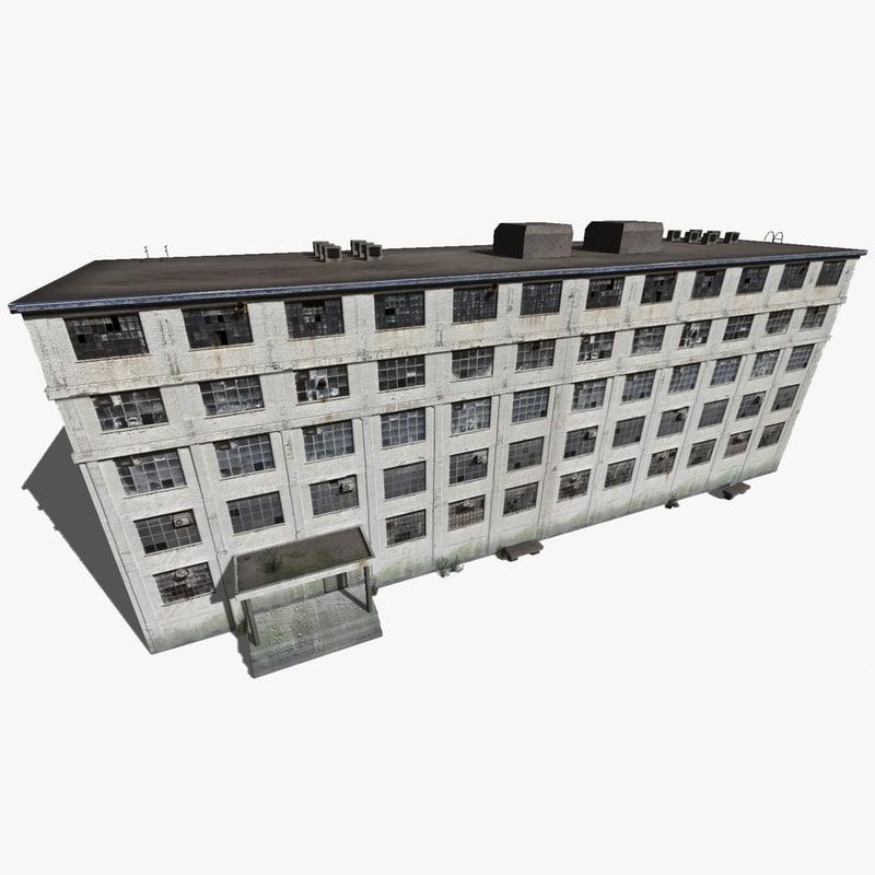 old industrial building obj