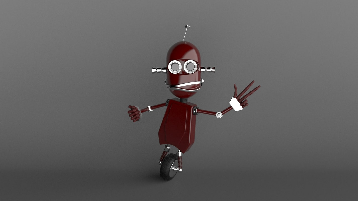 3d cartoon robot