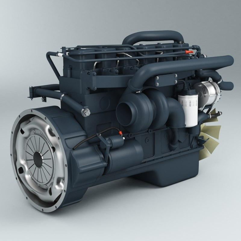 engine cummins 3d model