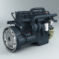 engine cummins 3d model