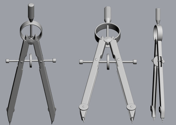 3d compass dividers