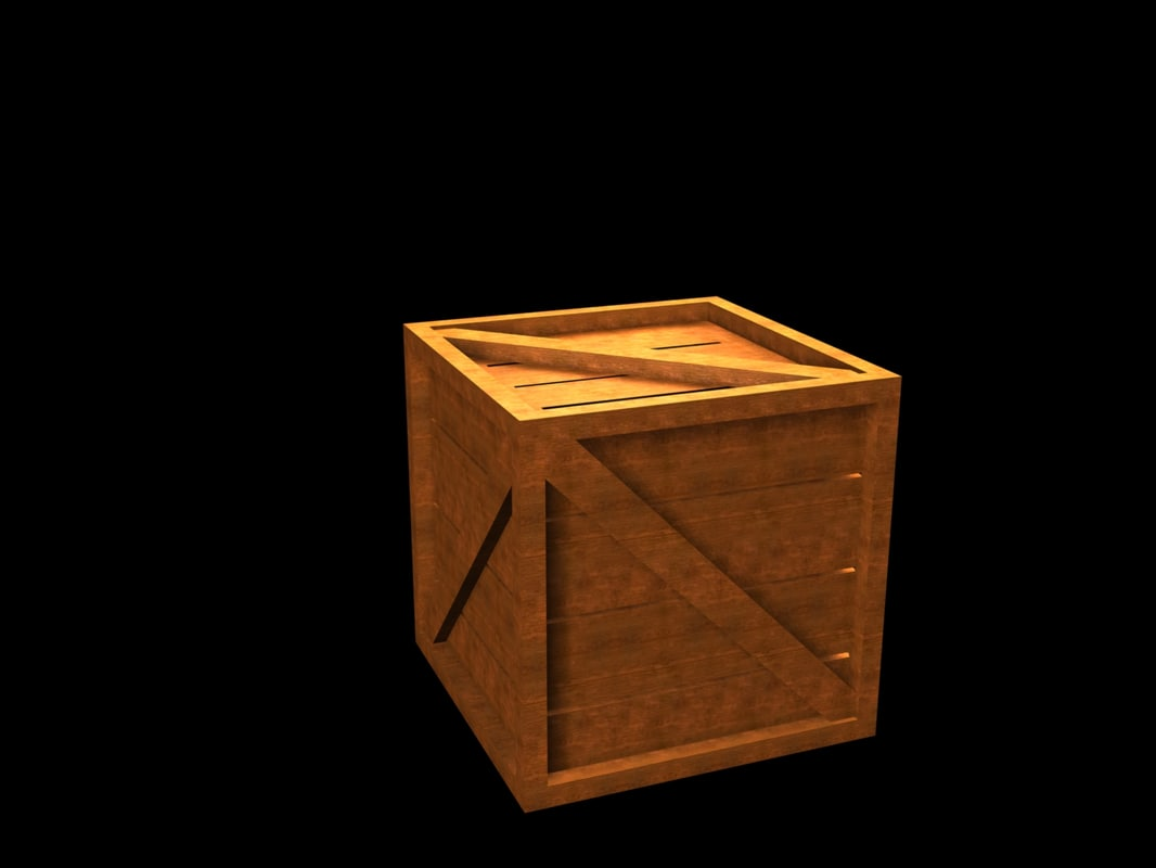 3ds max wooden crate