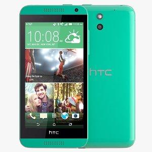 htc desire 610 green 3d c4d