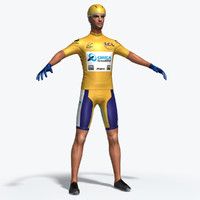 3d athletic cyclist