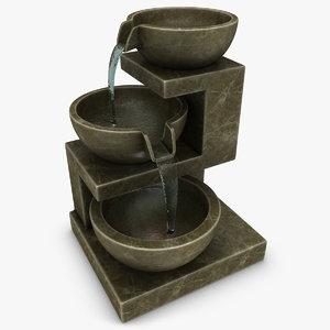 max realistic home fountain brown