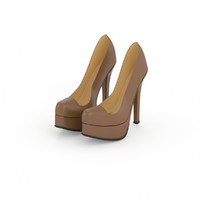 3d fendi women shoes model