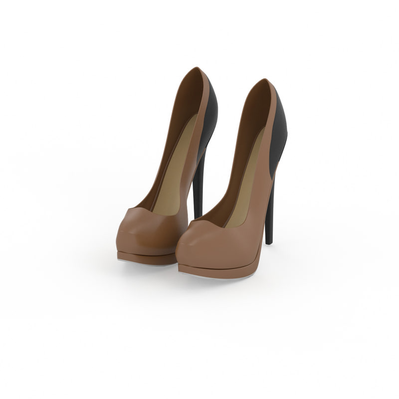 3ds max fendi women shoes