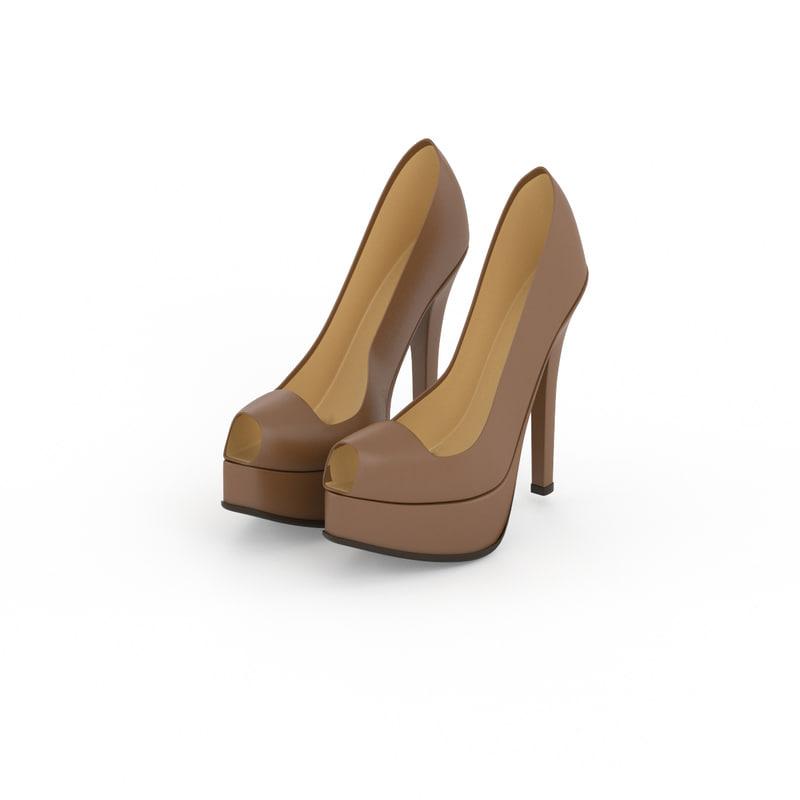fendi women shoes 3d model