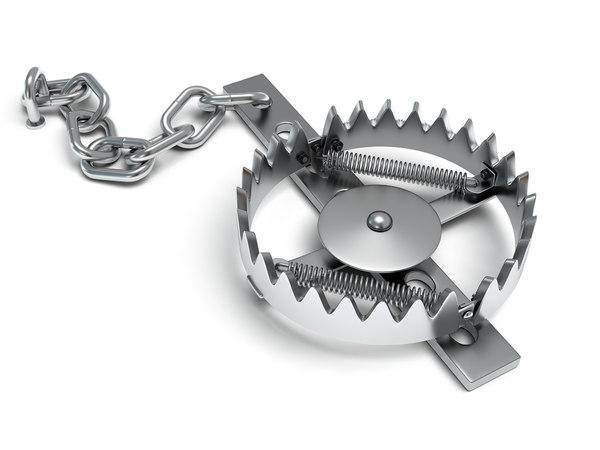 3d mantrap metal animal trap model