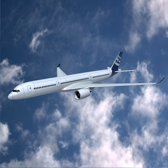 3d aircraft airbus commercial