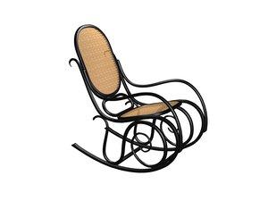 thonet rocking chair 3d model