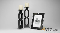 Decoration 0004 - photo frame and candlestick