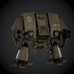 3ds max heavy war machine