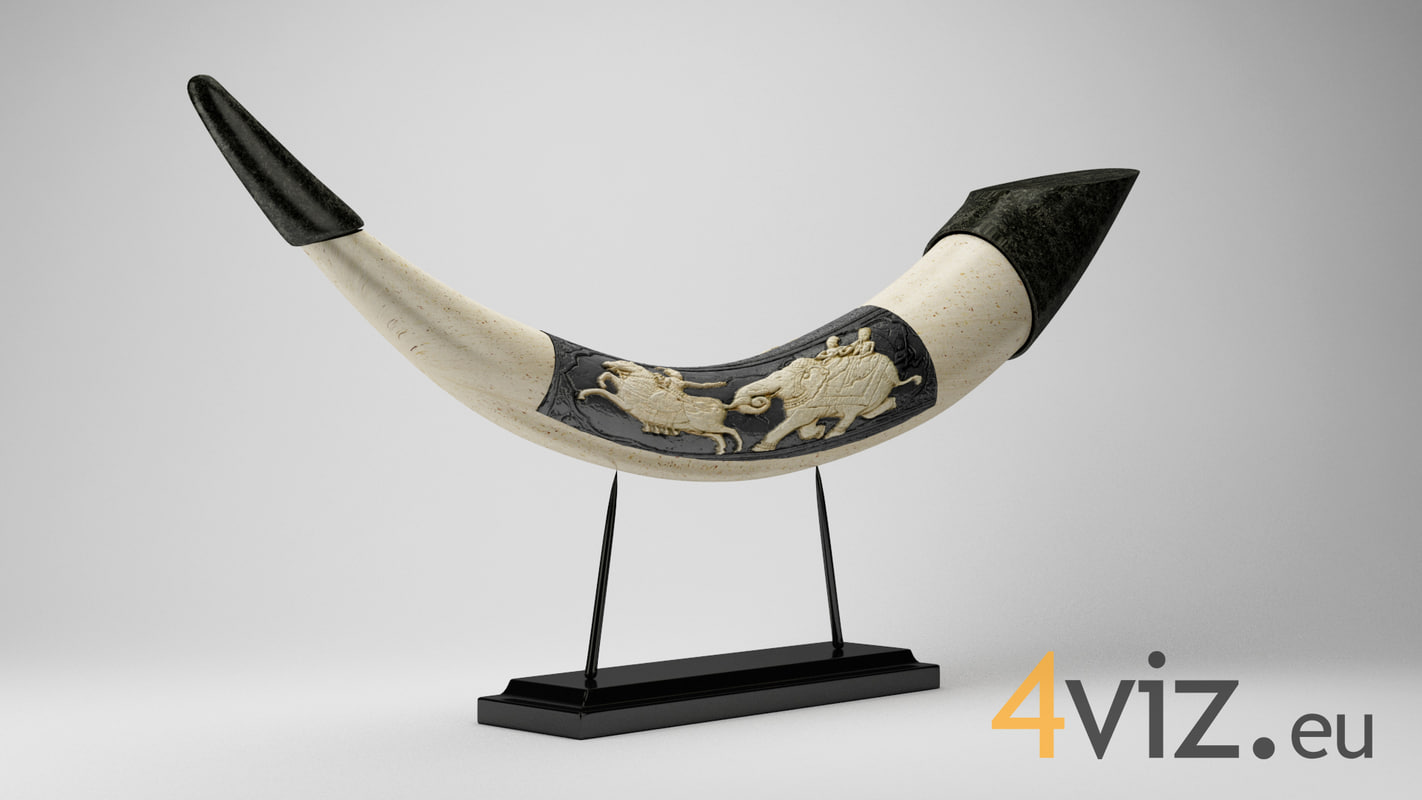 3d decorative horn - model