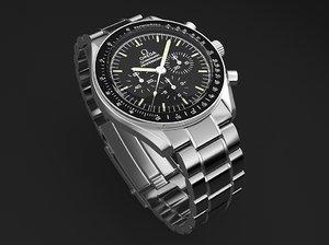 3d model watch mens omega