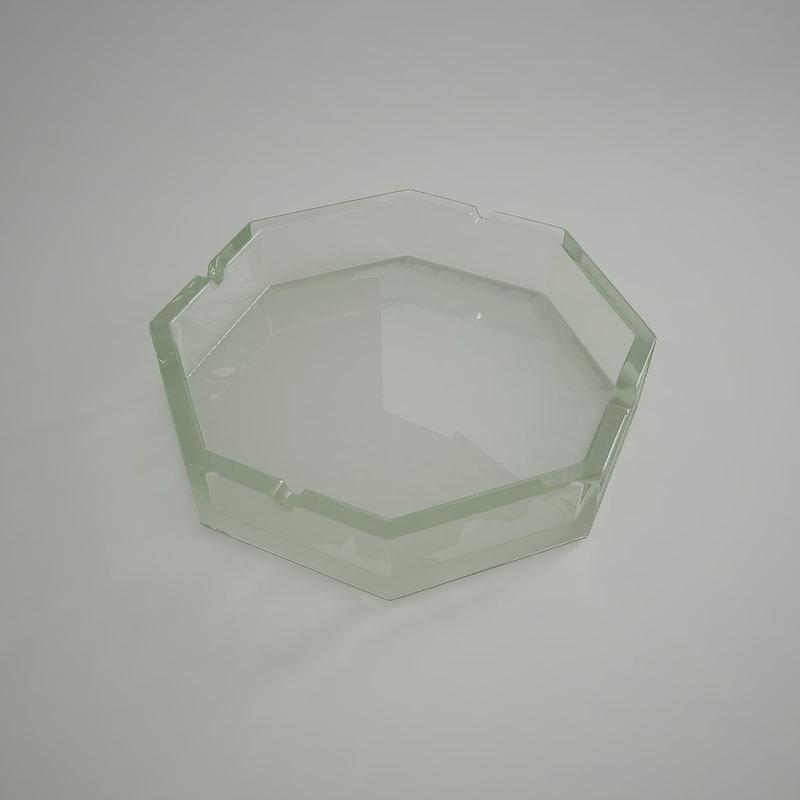 ashtray 3d 3ds