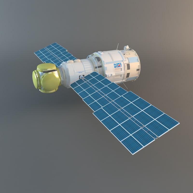 3d model zvezda service module