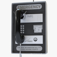 3d subway emergency telephone phone