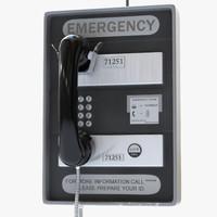 3d subway emergency telephone phone