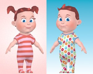 cartoon baby boy 3d max