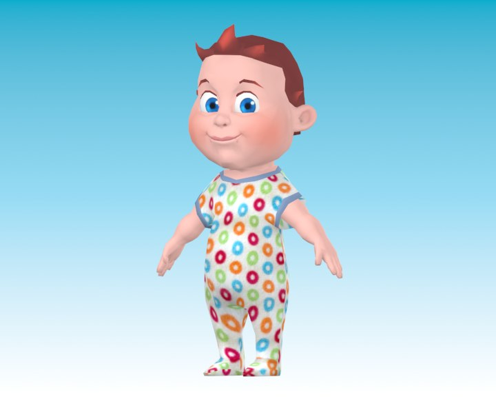 cartoon baby boy 3ds