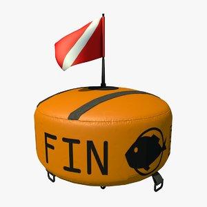 3d scuba buoy model
