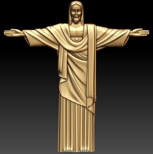 3ds relief statue christ rio
