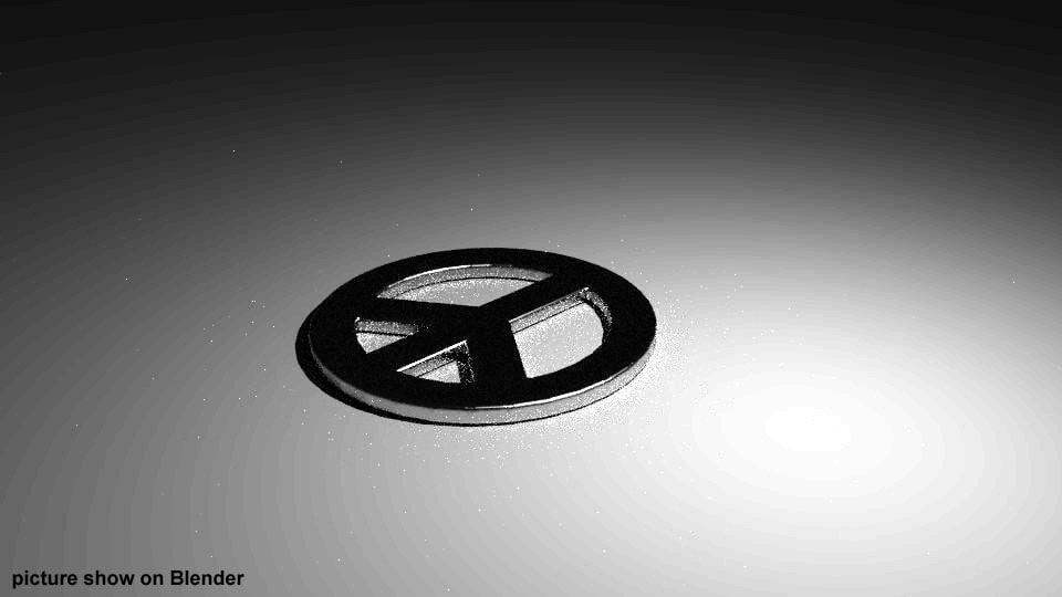 peace logo 3d 3ds