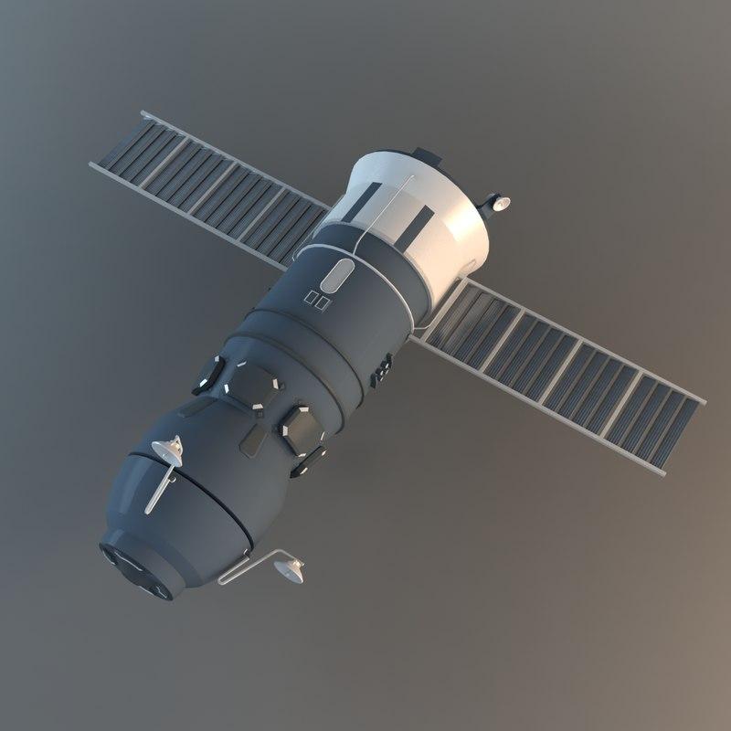 3d model progress spacecraft