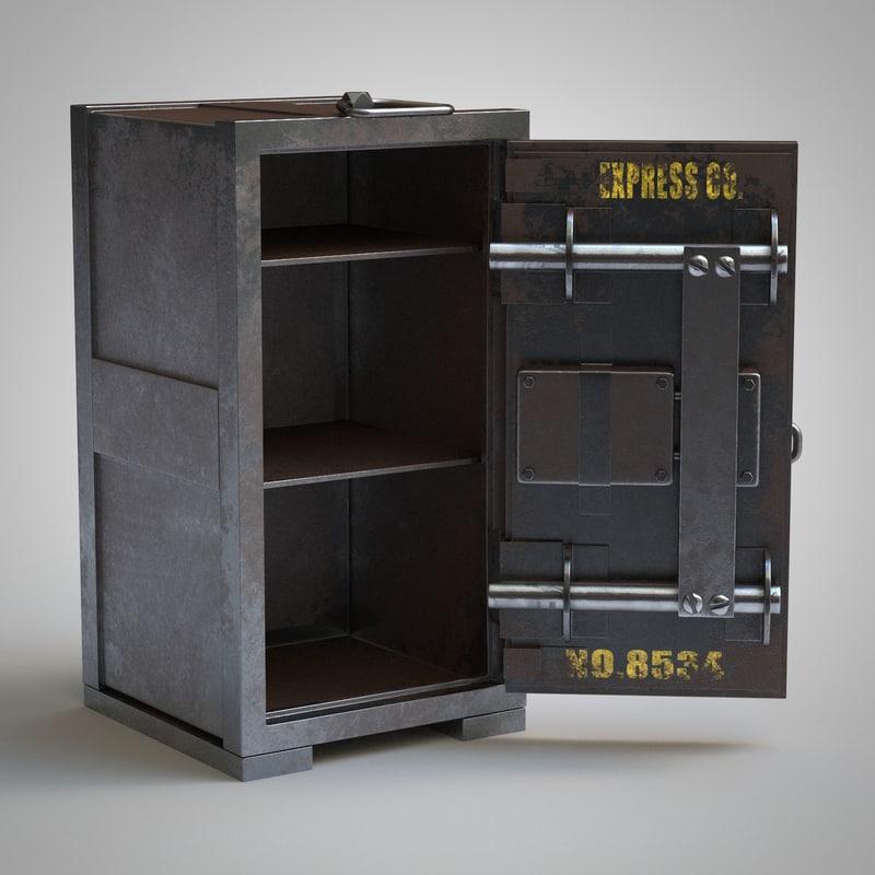3d model vintage safe