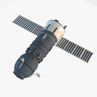 3d model progress spacecraft