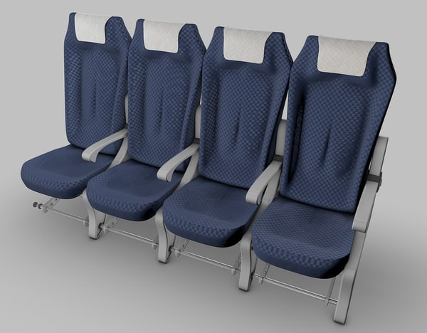 3d airplane seats