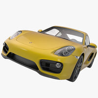Porsche Cayman 2013 Sport Car Without Interior